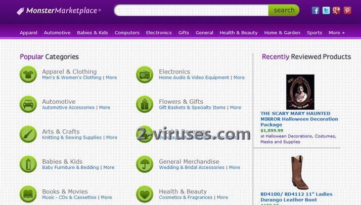 Monstermarketplace Redirect Virus