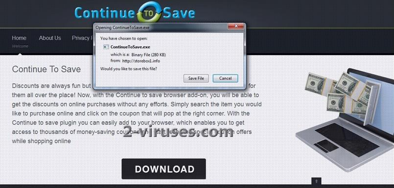 """Continue to Save"" Virus"