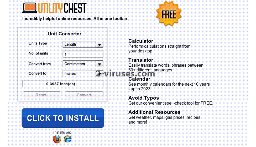 Utility Chest Toolbar