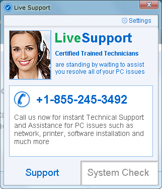 LiveSupport Adware