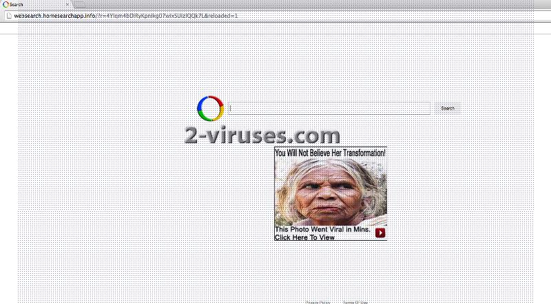 Websearch.homesearchapp.info Virus