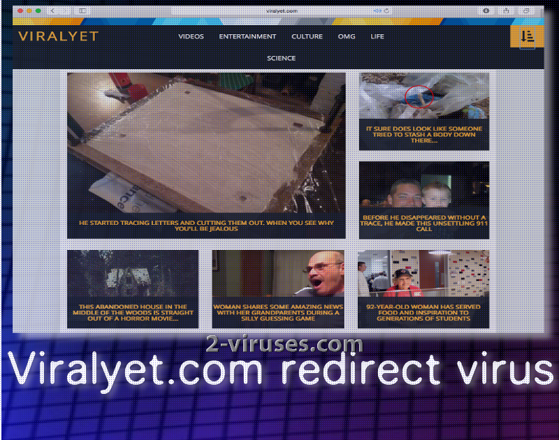 Viralyet.com redirect virus
