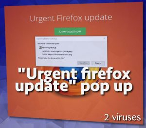 Urgent Firefox Update pop-up