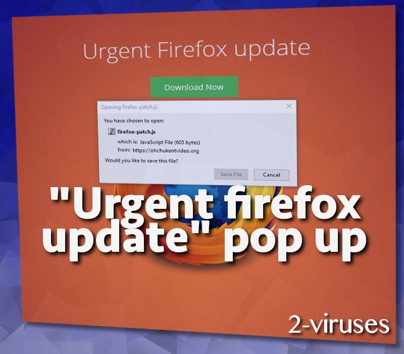 Urgent Firefox Update pop-up