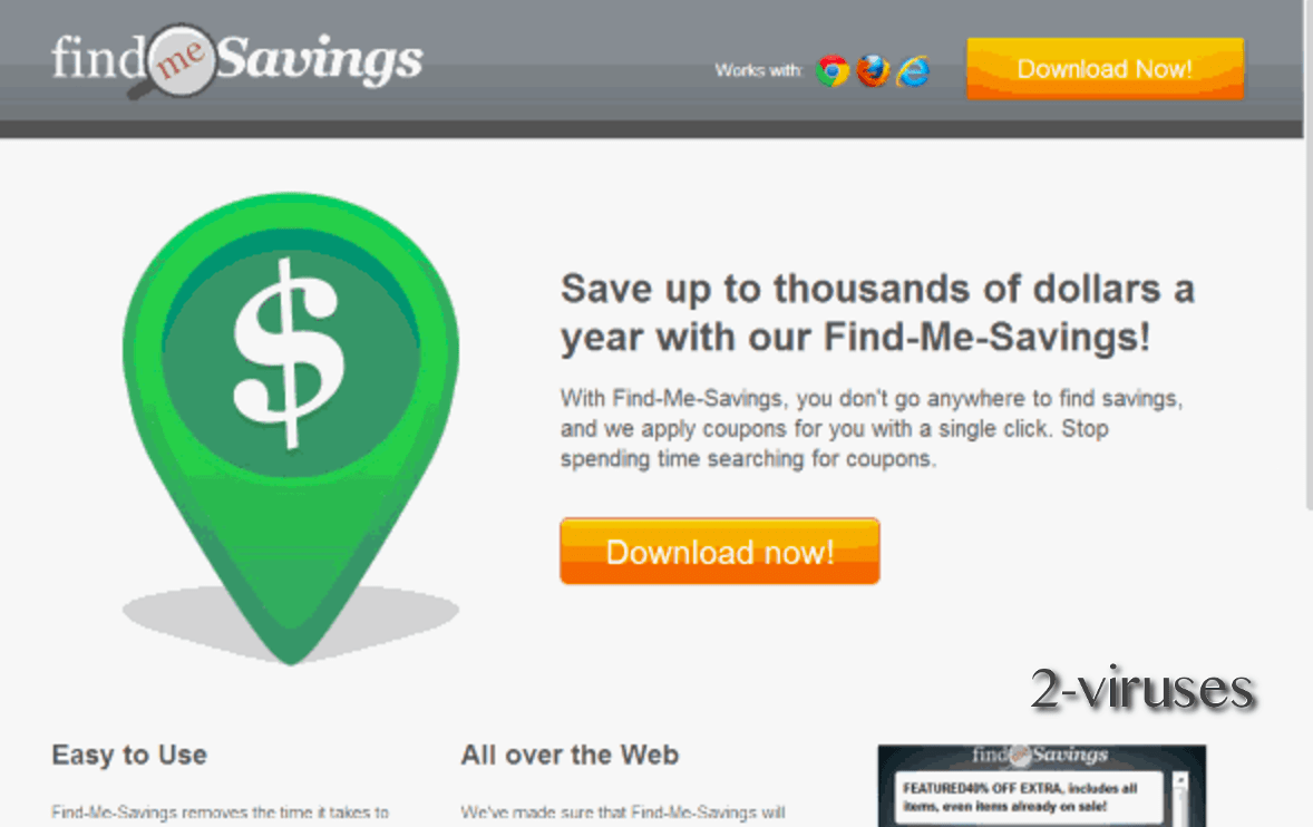 Findmesavings adware virus remove