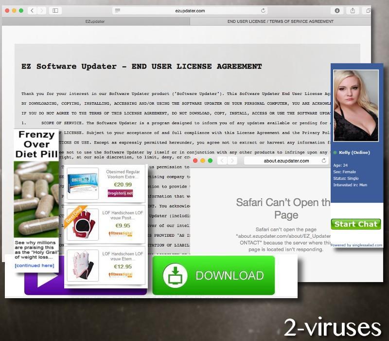 Anzeigen von Ezupdater