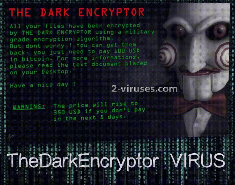 TheDarkEncryptor ransomware virus