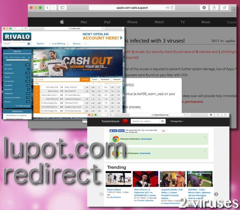 Iupot.com redirect virus