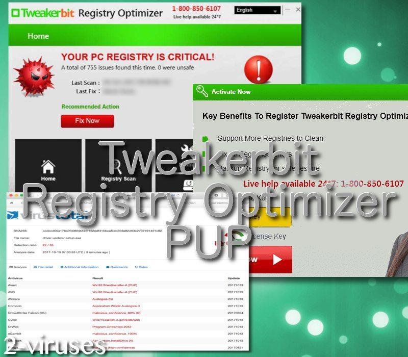Tweakerbit Registry Optimizer tool