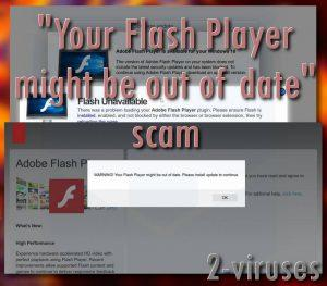 """Your Flash Player might be out of date""-Scam"
