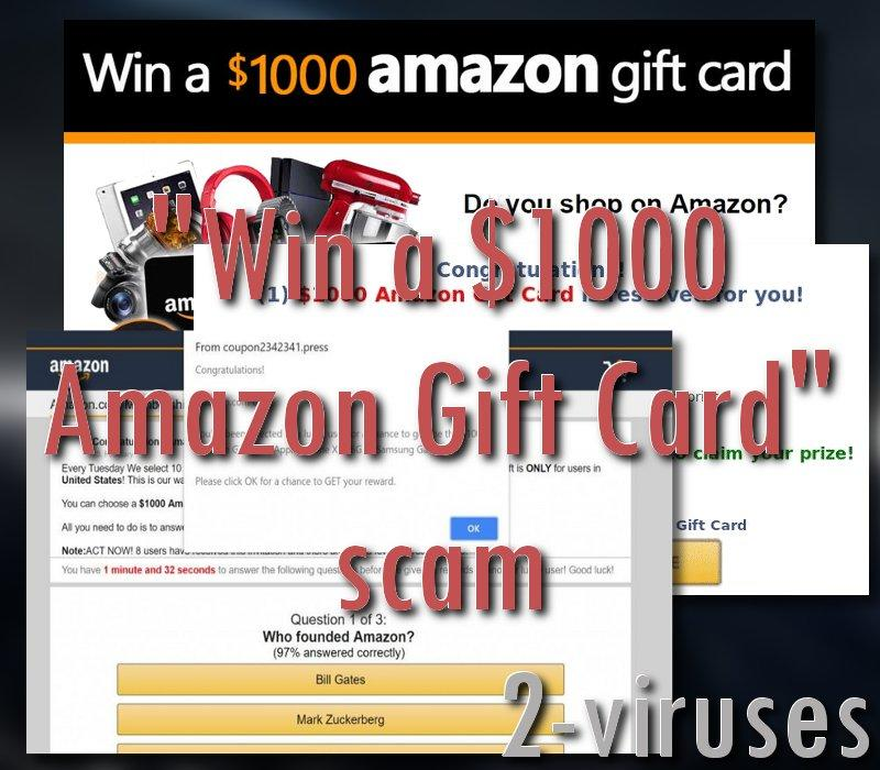 "Betrugsmasche: ""Win a $1000 Amazon Gift Card"""