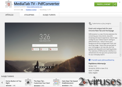 MediaTabTV extension
