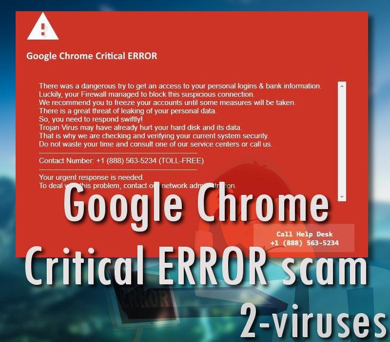 """""""Google Chrome Critical ERROR""""-Scam"""