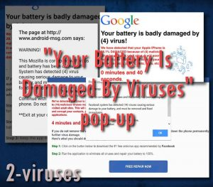 "Scam: ""Your Battery Is Damaged By Viruses"""