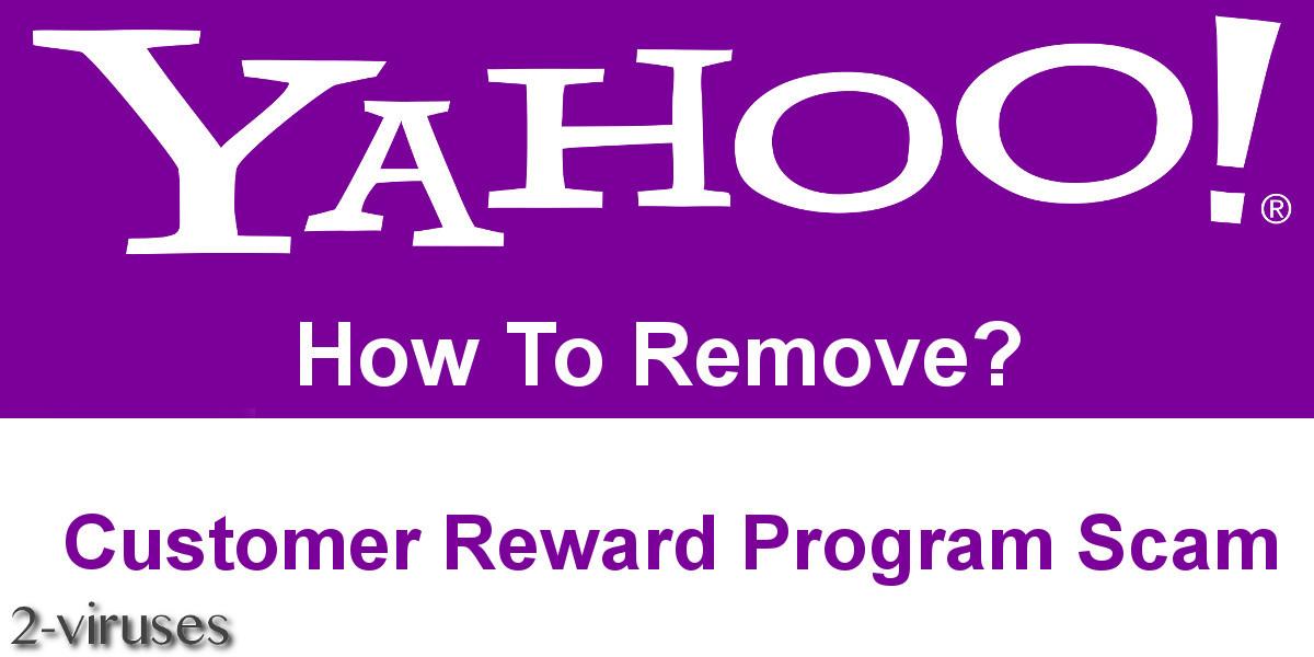 "Scam: ""Yahoo Customer Reward Program"""