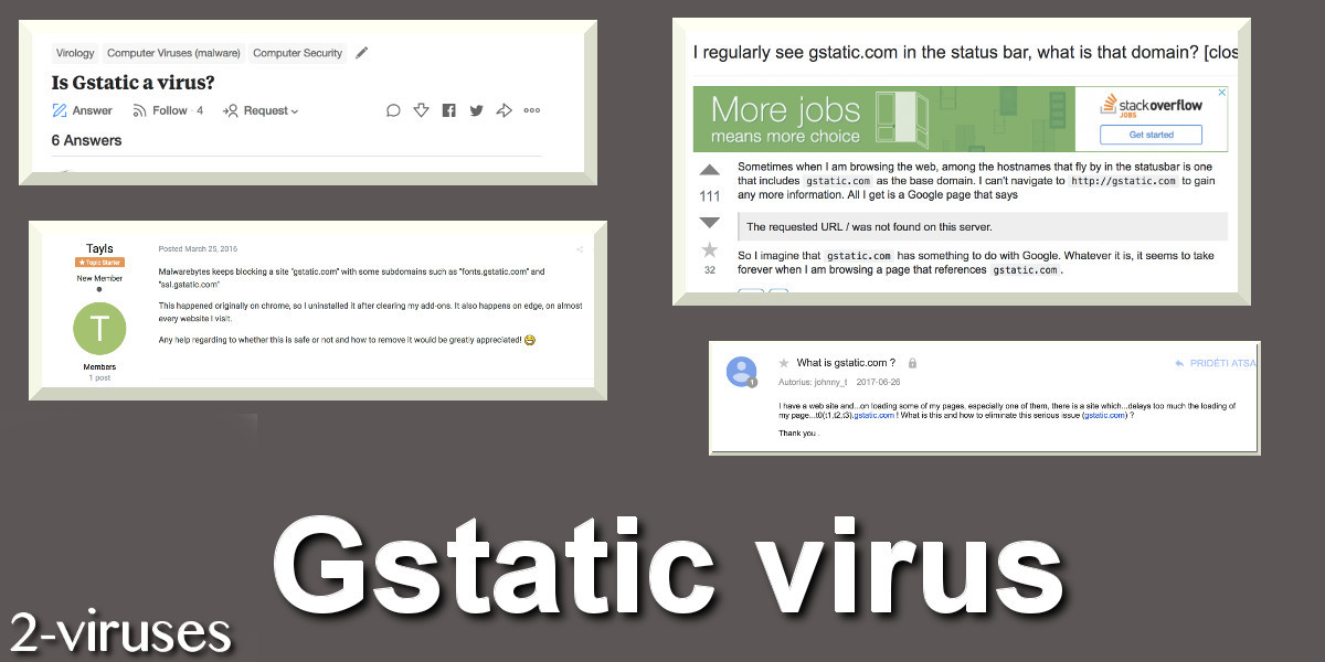 Gstatic virus remove