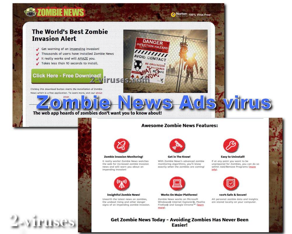 Zombie news virus adware