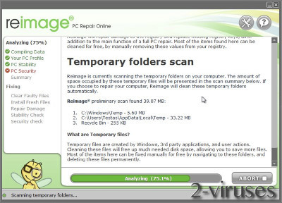 Reimage Junk Files Removal
