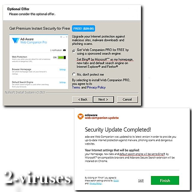 web companion ad aware virus