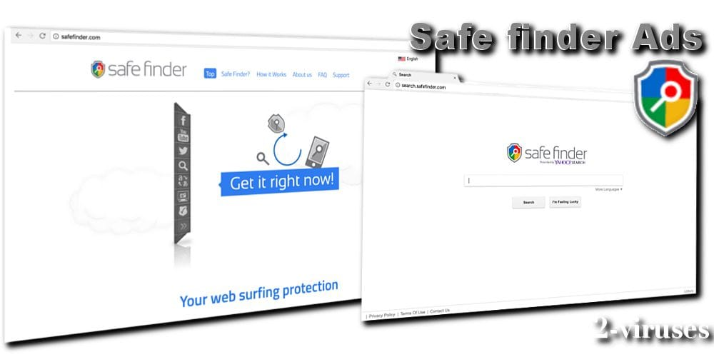 Safe finder virus malicious extension