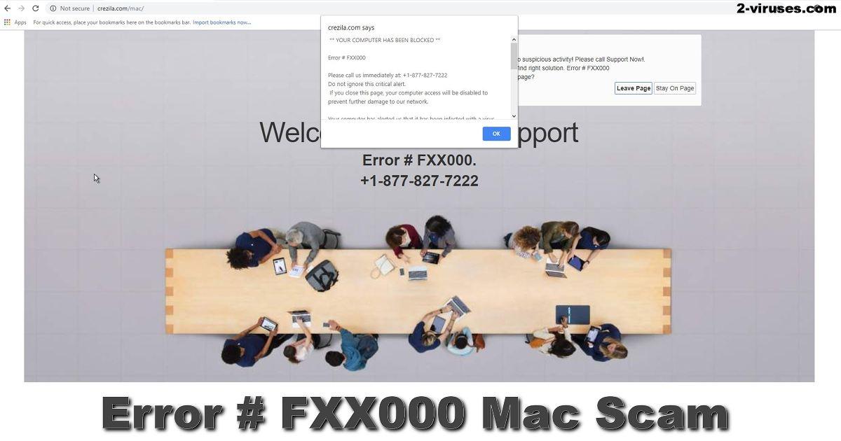 Mac-Scam: Fehler # FXX000