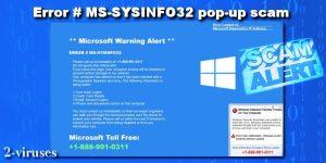 Pop-up-Scam: ERROR # MS-SYSINFO32