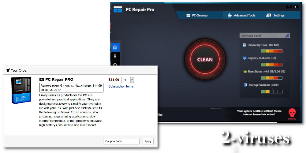 PC repair pro virus purchase full version