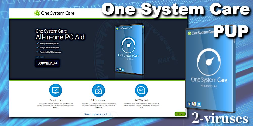 One System Care potentially unwaten program