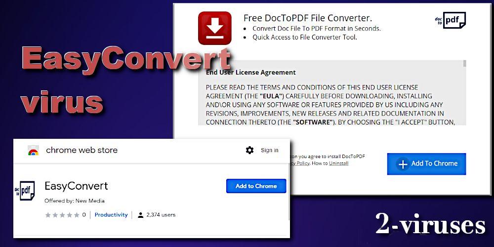 easyconvert browser hijacker extension chrome