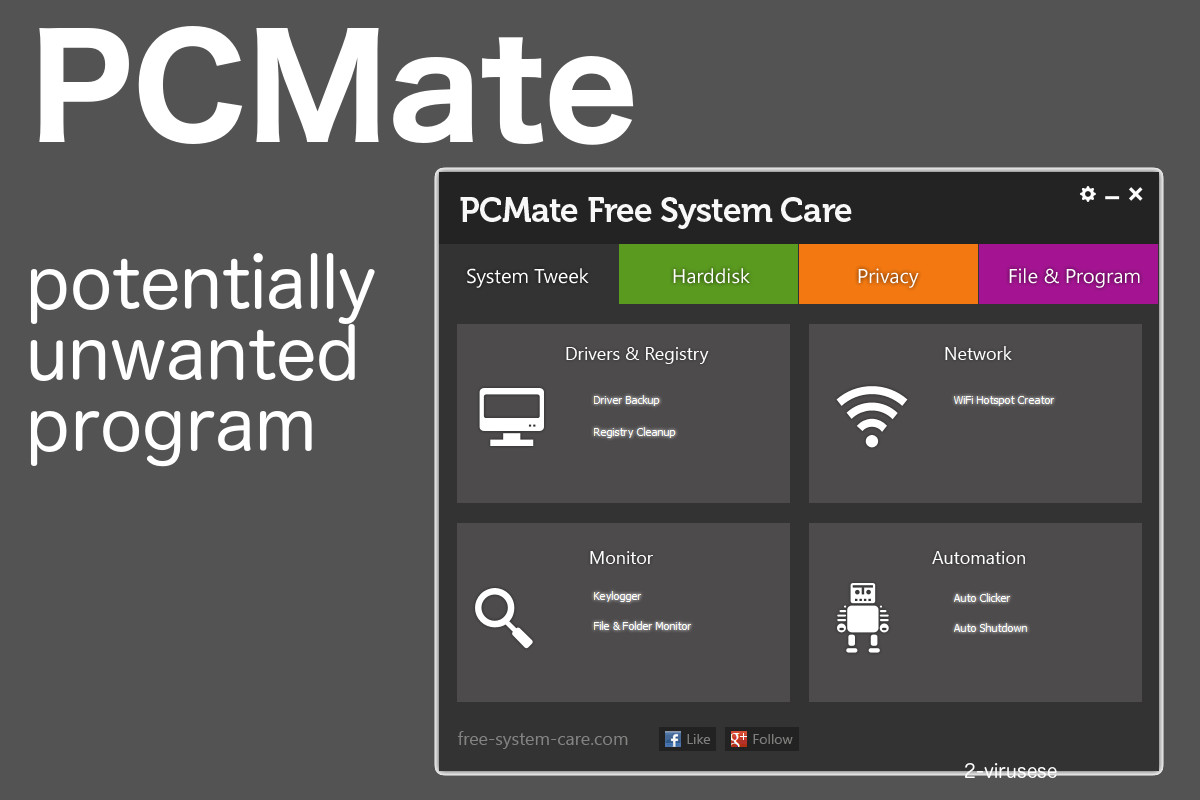 pcmate potentially unwanted program