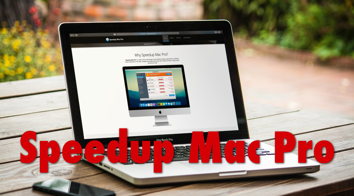 """Speedup Mac Pro"", the main page"
