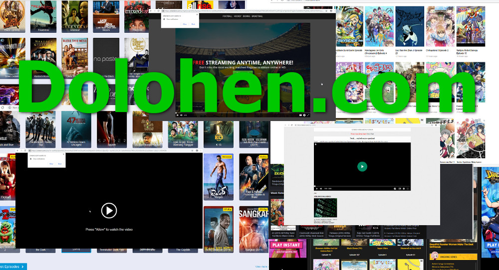 """Dolohen.com"", streaming site screenshots, malicious websites"