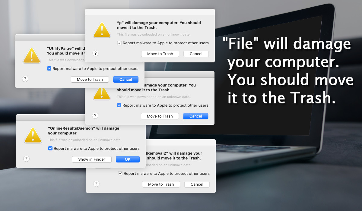 File Will Damage Your Computer – Mac Warning