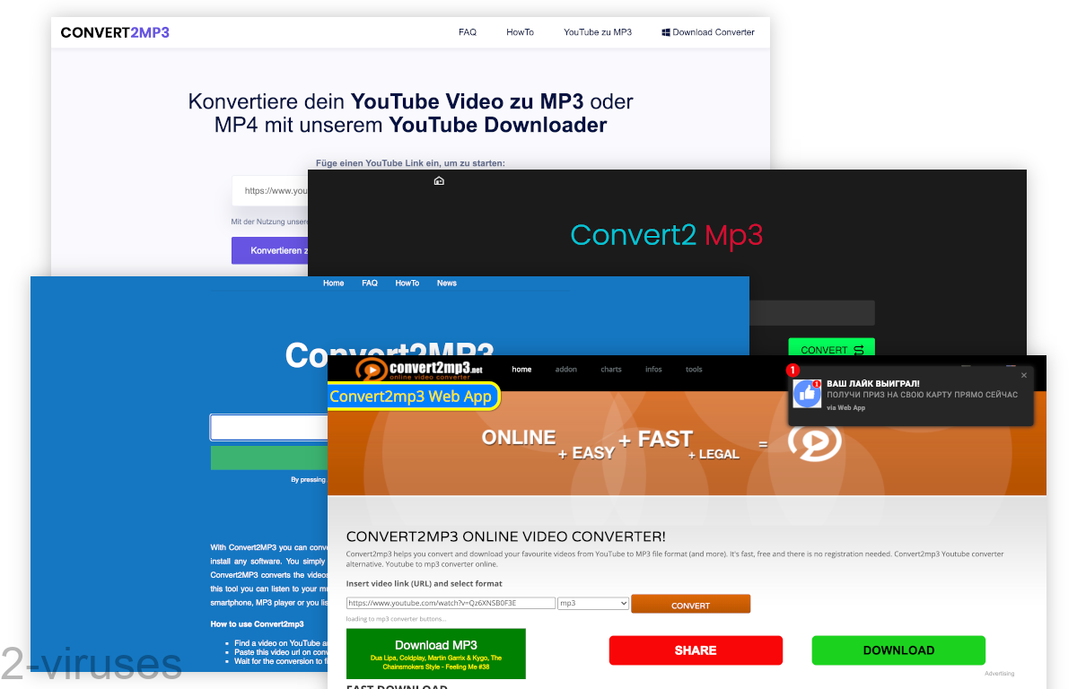 The Convert2mp3 family is made up of a few different sites.